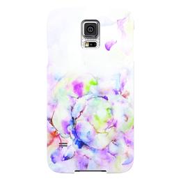 """Чехол для Samsung Galaxy S5 """"Распускающаяся роза"""" - цветок, роза, акварель, розы, бутон"""