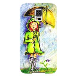 """Чехол для Samsung Galaxy S5 """"Дождик, дождик, уходи!"""" - дети, детское, ручная работа, детский рисунок, детская работа"""