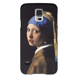 """Чехол для Samsung Galaxy S5 """"Девушка с жемчужной серёжкой (Ян Вермеер)"""" - картина, портрет, вермеер"""