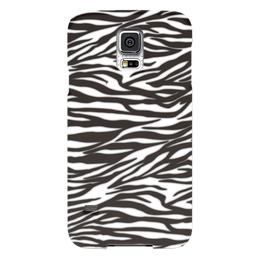 """Чехол для Samsung Galaxy S5 """"Зебра"""" - узор, стиль, зебра, рисунок, звериный"""