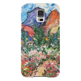 """Чехол для Samsung Galaxy S5 """"Счастье"""" - любовь, цветы, дорога, горы, кипарисы"""