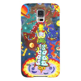"""Чехол для Samsung Galaxy S5 """"Космический арт"""" - ручная работа, детский рисунок, от детей, детская работа"""