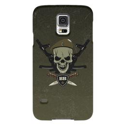 """Чехол для Samsung Galaxy S5 """"ВВ!!!"""" - оливковый берет, сила, вв, внутренние войска, ножи"""