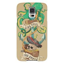 """Чехол для Samsung Galaxy S5 """"Осьминог"""" - череп, old school, пират, якорь, татуировка"""