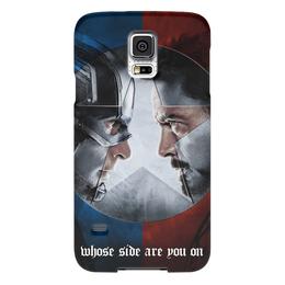 """Чехол для Samsung Galaxy S5 """"Первый Мститель:Противостояние"""" - marvel, мстители, командастарка, командакэпа"""