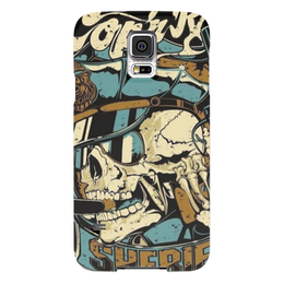 """Чехол для Samsung Galaxy S5 """"Шерифф"""" - skull, череп, скелет, шериф, sheriff"""