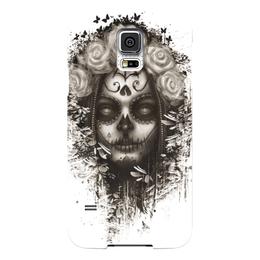 """Чехол для Samsung Galaxy S5 """"Santa Muerte """" - череп, девушка, смерть, санта муерте"""