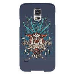 """Чехол для Samsung Galaxy S5 """"Forest Spirit. Лесной Дух"""" - рисунок, олень, фэнтэзи, лесной дух"""