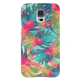 "Чехол для Samsung Galaxy S5 ""Джунгли"" - цветы, лес, краски, акварель, джунгли"