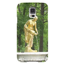 """Чехол для Samsung Galaxy S5 """"Нимфа"""" - россия, парк, скульптура, нимфа, петергоф"""