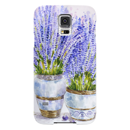 "Чехол для Samsung Galaxy S5 ""Лаванда"" - цветы, рисунок, лаванда"