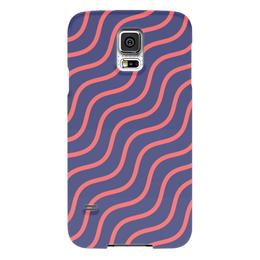 """Чехол для Samsung Galaxy S5 """"Волнистый"""" - узор, рисунок, полосы, стильный, волны"""