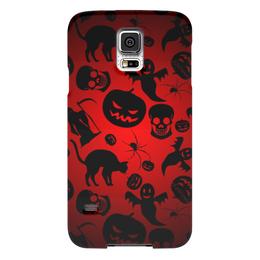 "Чехол для Samsung Galaxy S5 ""Хэллоуин"" - череп, кот, тыква, приведение"