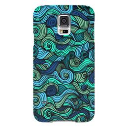 """Чехол для Samsung Galaxy S5 """"Волнистый"""" - арт, узор, волна, орнамент, абстракция"""