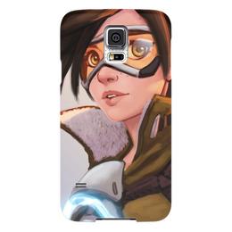 "Чехол для Samsung Galaxy S5 ""Трейсер"" - blizzard, близзард, overwatch, овервотч, tracer"