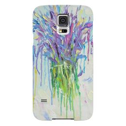 "Чехол для Samsung Galaxy S5 ""  Лаванда"" - букет, лаванда, lavender, мазки краски"