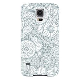 """Чехол для Samsung Galaxy S5 """"Джунгли"""" - цветы, растения, джунгли"""