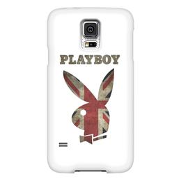 """Чехол для Samsung Galaxy S5 """"Playboy Британский флаг"""" - playboy, плэйбой, плейбой"""