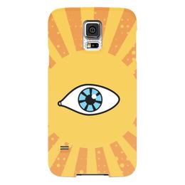 """Чехол для Samsung Galaxy S5 """"Ретро глаз"""" - арт, глаз, ретро, дизайн, лучи"""