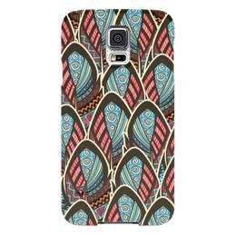 "Чехол для Samsung Galaxy S5 ""Перья Бохо"" - перо, перья, бохо, майя"