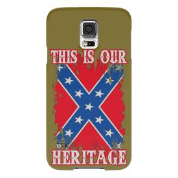 "Чехол для Samsung Galaxy S5 ""Флаг Конфедерации США"" - война, америка, флаг, сша, флаг конфедерации"