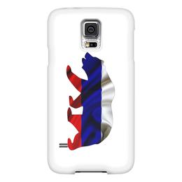 "Чехол для Samsung Galaxy S5 ""Русский Медведь"" - bear, медведь, русский, флаг, russian"