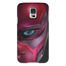 """Чехол для Samsung Galaxy S5 """"Вижн (Vision)"""" - комиксы, мстители, марвел, эра альтрона"""
