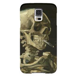"""Чехол для Samsung Galaxy S5 """"Череп с горящей сигаретой"""" - картина, ван гог"""