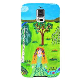 """Чехол для Samsung Galaxy S5 """"Мир волшебства"""" - ручная работа, детский рисунок, от детей, детская работа"""