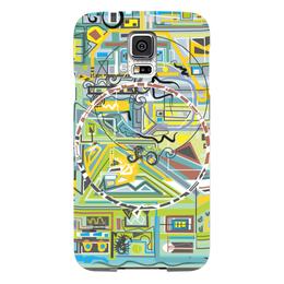 "Чехол для Samsung Galaxy S5 ""Березка"" - арт, абстракция, фигуры, бирюзовый"
