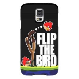 "Чехол для Samsung Galaxy S5 ""Flip The Bird"" - злые птицы, flip the bird"