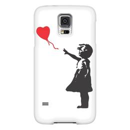 """Чехол для Samsung Galaxy S5 """"Balloongirl"""" - девочка, banksy, шар, balloon, бэнкси"""