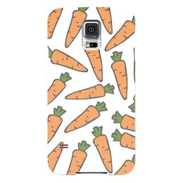 """Чехол для Samsung Galaxy S5 """"Морковки"""" - морковь, овощи, лето, здоровье, веган"""