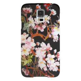 "Чехол для Samsung Galaxy S5 ""Бабочки на цветущей вишне 2."" - арт, бабочки, цветы, весна, flowers, butterfly, живопись, цветочное"