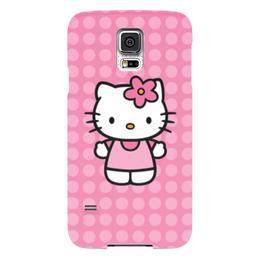 "Чехол для Samsung Galaxy S5 ""Kitty в горошек"" - мультик, hello kitty, мультфильм, для детей, привет китти"