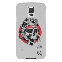 """Чехол для Samsung Galaxy S5 """"Камикадзе"""" - япония, иероглифы, камикадзе, божественный ветер"""