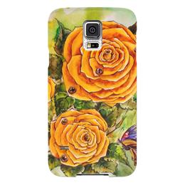 """Чехол для Samsung Galaxy S5 """"Жёлтая роза"""" - цветы, рисунок, розы, жёлтая роза"""
