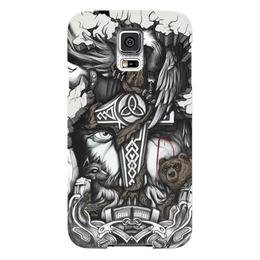 """Чехол для Samsung Galaxy S5 """"Великий Один"""" - один, мифы, бог, викинги, путь воина"""