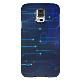 "Чехол для Samsung Galaxy S5 ""Матрица"" - компьютер, матрица, чип, микросхема, электронный"