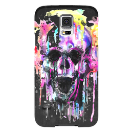 "Чехол для Samsung Galaxy S5 ""Череп (краски)"" - skull, череп, хэллоуин, краски, подарок"