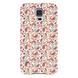 """Чехол для Samsung Galaxy S5 """"Пейсли (Яркий)"""" - узор, пейсли, лепесток, цветы, цветок"""