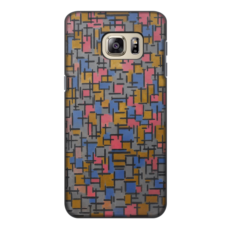 Чехол для Samsung Galaxy S6, объёмная печать Printio Композиция (питер мондриан) чехол для карточек пит мондриан дк2017 110