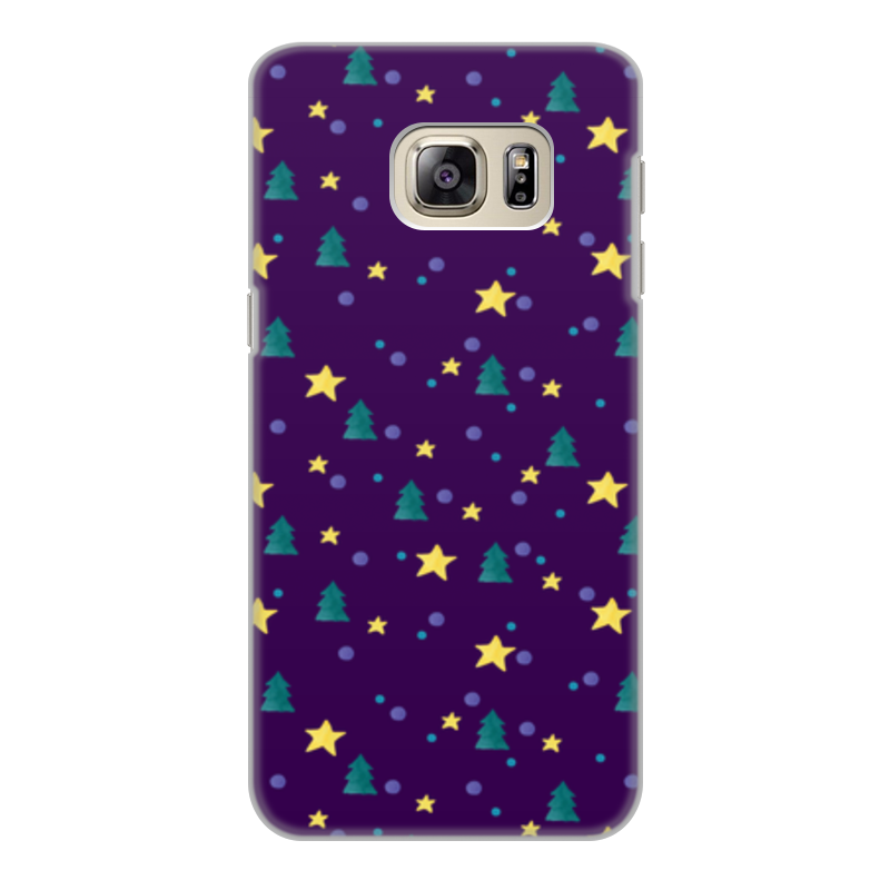 Чехол для Samsung Galaxy S6, объёмная печать Printio Елки и звезды