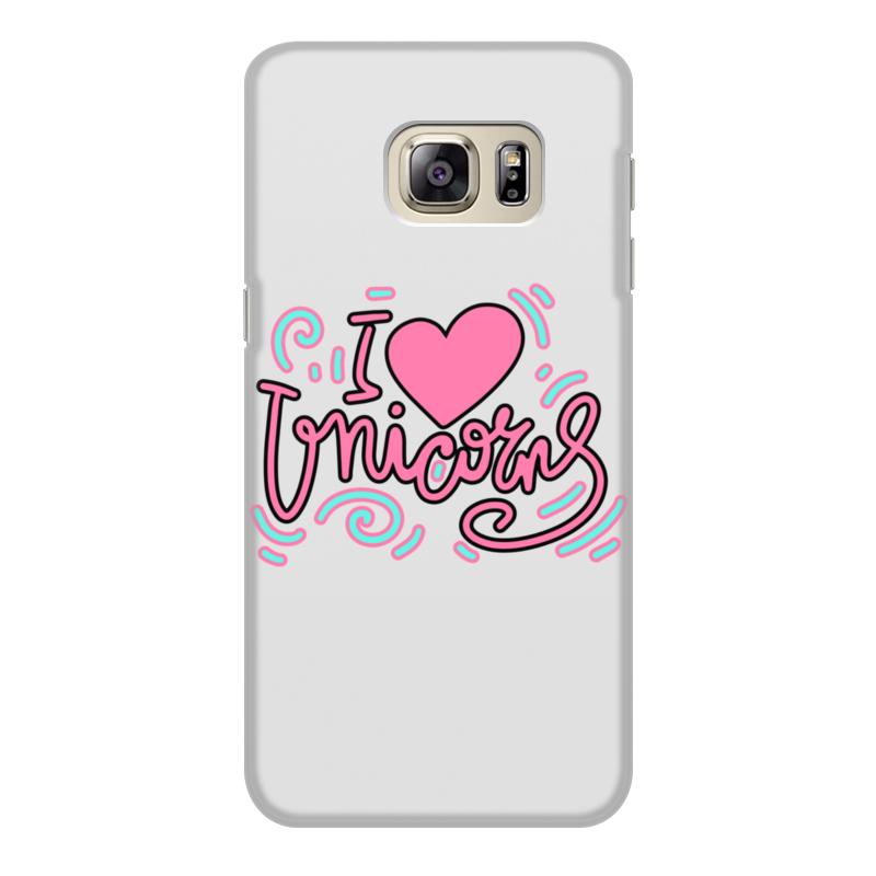 Чехол для Samsung Galaxy S6, объёмная печать Printio I love unicorns чехол для samsung galaxy s8 объёмная печать printio i love unicorns