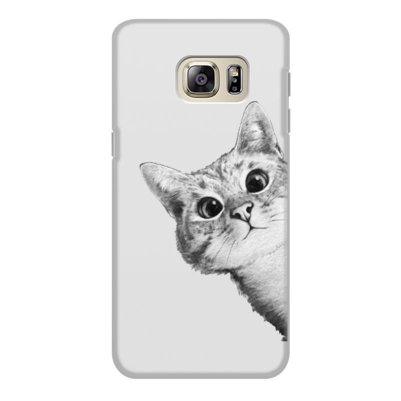 Чехол для Samsung Galaxy S6, объёмная печать Printio Любопытный кот отсутствует автомир 24 2017