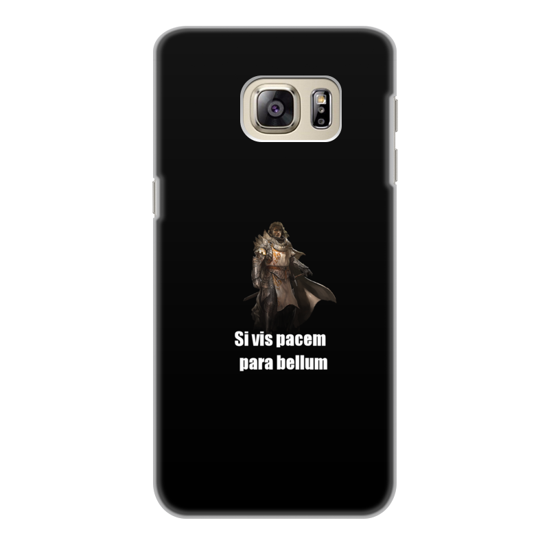 Чехол для Samsung Galaxy S6, объёмная печать Printio Хочешь мира - готовься к войне чехол для samsung galaxy note 2 printio хочешь мира готовься к войне