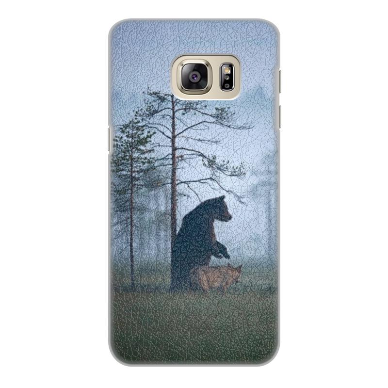 Чехол для Samsung Galaxy S6, объёмная печать Printio Мишка  волк