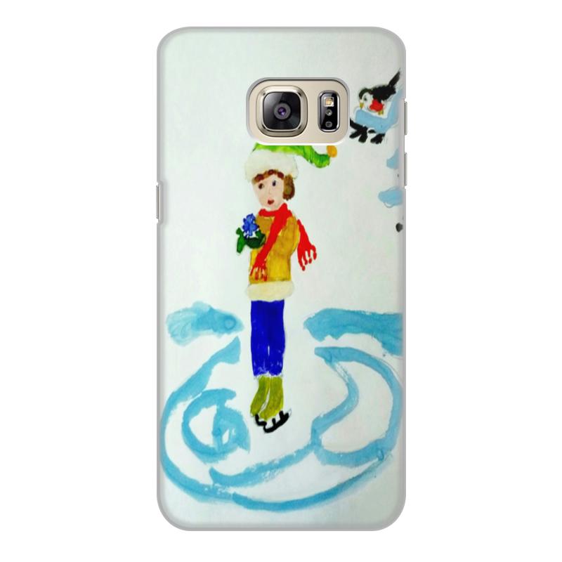 Чехол для Samsung Galaxy S6, объёмная печать Printio Зимние забавы зимние забавы раскраска