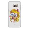 """Чехол для Samsung Galaxy S6, объёмная печать """"Без ума от цветов"""" - любовь, девушка, цветы, сердца, блондинка"""