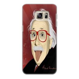 """Чехол для Samsung Galaxy S6, объёмная печать """"Эйнштейн"""" - эйнштейн, samsung, galaxy"""